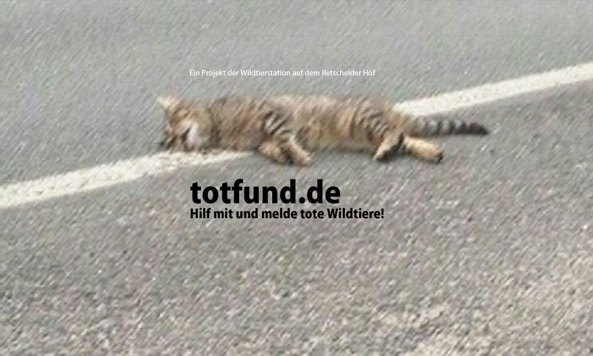 Totfund.de - Melde verstorbene Wildtiere in Deutschland